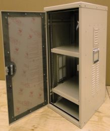 Indoor Racking Cabinet w/ Lexan Door - Open
