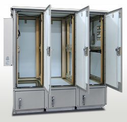 Triple Door Outdoor Enclosures - Open