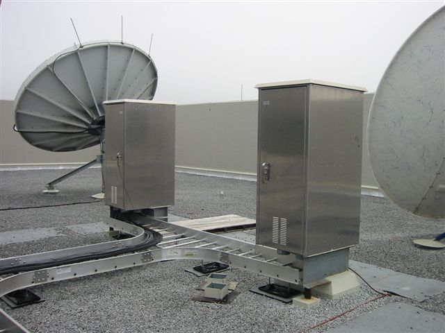 Roof Mounted Electrical Enclosures In Position